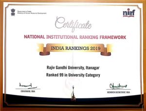 NIRF Certificate