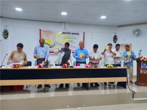 A poetry collection 'Jab Adivasi Gata Hai' penned by Jamuna Bini, Assistant Professor released. Speaking on the occasion, Noted writer and President APLS Y. D. Thongchi said, Jamuna's poetry is an endeavour to revive a lost identity by reworking her cultural legacy and making it relevant for new generation.