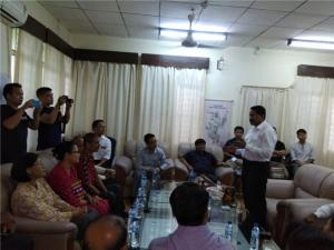 "Arrival of New Vice Chancellor, Prof. Saket Kushwaha at Rajiv Gandhi University ""Arrival of New Vice Chancellor, Prof. Saket Kushwaha at Rajiv Gandhi University on 3rd October 2018"""