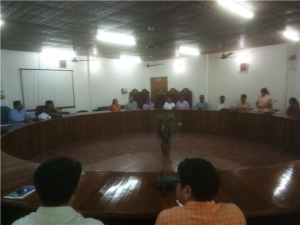 Prof. Saket Kushwaha, Vice Chancellor Interacting with Deans of Faculties and HoDs of all the Departments on 8th October 2018 at Council Hall
