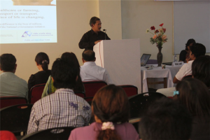 Prof. Tamo Mibang, VC addressing the participants