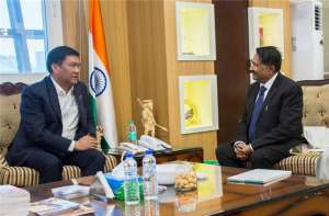 At the request of students' community, Hon'ble Vice-Chancellor visited CM's secretariat, Itanagar on 2nd November 2018 and invited Honorable Chief Minister of Arunachal Pradesh, Shri Pema Khandu to grace the XIX Uni-Fest on 7th Nov 2018 at Picturesque University Campus at Rono Hills.