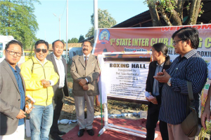 "Inauguration of RGU Boxing Arena and the 1st Inter State Boxing Club Championship ""Prof. Saket Kushwaha, Hon'ble Vice-Chancellor and Shri Bamang Tago, Chairman, Sports Authority of Arunachal, GOAP attended the inaugural event as the Chief Guest and the Guest of Honour respectively."""
