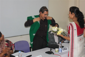Felicitating the dignitaries
