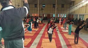 yoga in Auditorium