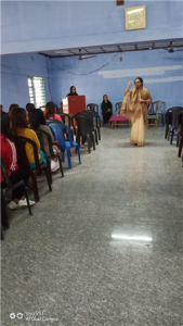 Madam Ashwini began the talk by describing the importance of teaching 'good touch and bad touch' and 'stranger danger' to children.