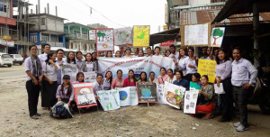 B.Ed IV semester students of Department of Education, Rajiv Gandhi University, along with the faculty members of the department, on April 22, 2019 celebrated World Earth Day through organising procession and skits in university campus, Doimukh and Nirjuli market. click me