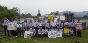 During procession students displayed colourful placards containing messages about how to save the environment and pronounced various slogans based on the importance of flora and fauna to maintain ecological balance.