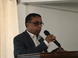 """Pro-Vice-Chancellor, Prof Amitava Mitra, in his address spoke about """"the importance and uniqueness of the Indian constitution."""" He requested all to respect the constitution, and informed that the Indian constitution is the largest written constitution of the world."""