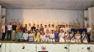 """The department of English has performed the play entitled """"Mission Swachhata-A Gandhian Play"""" to commemorate 150th birth aniversary of Mahatma Gandhi"""