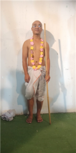 Student Played the Role of Gandhi